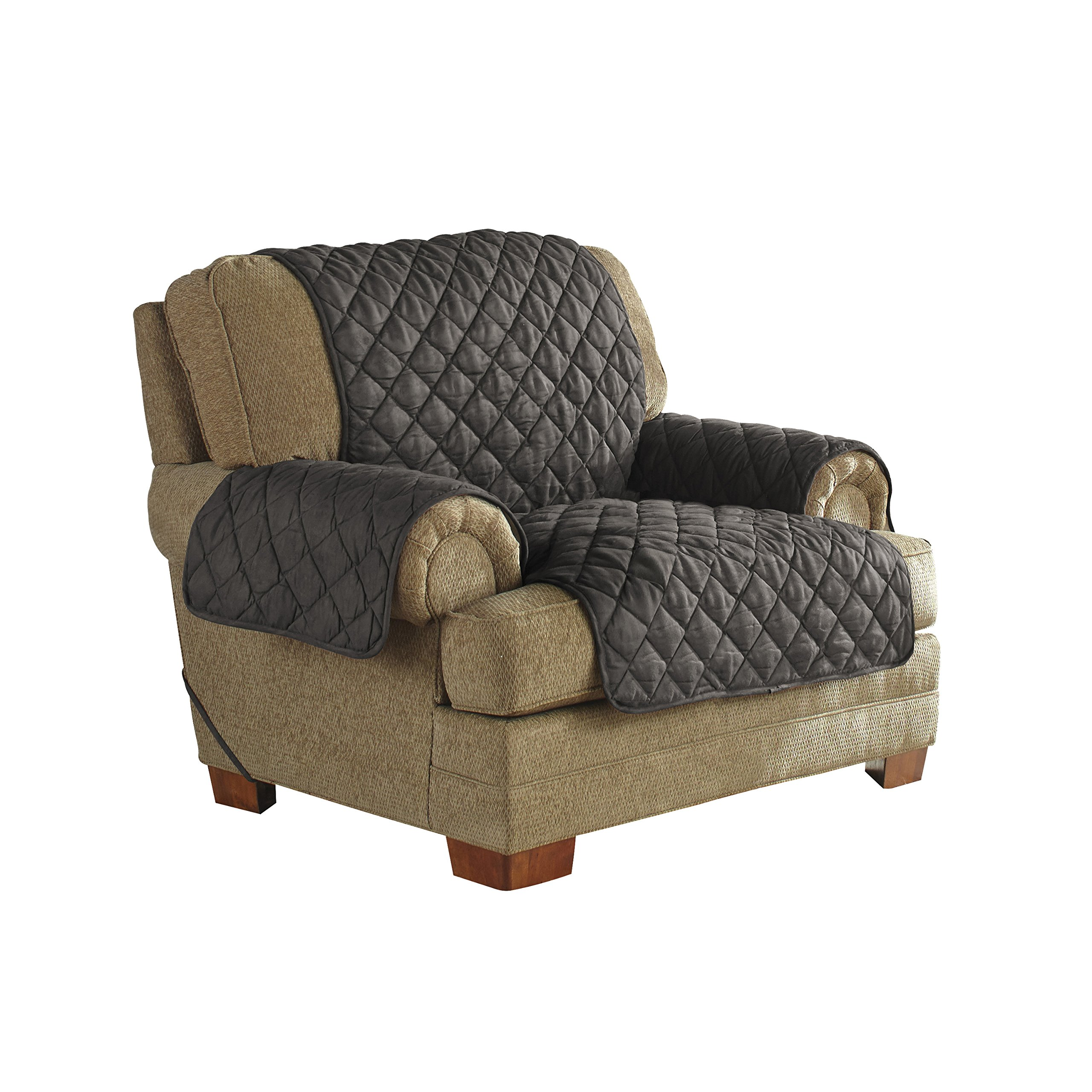 Serta Ultra Suede Waterproof Furniture Chair Protector, Graphite by Serta