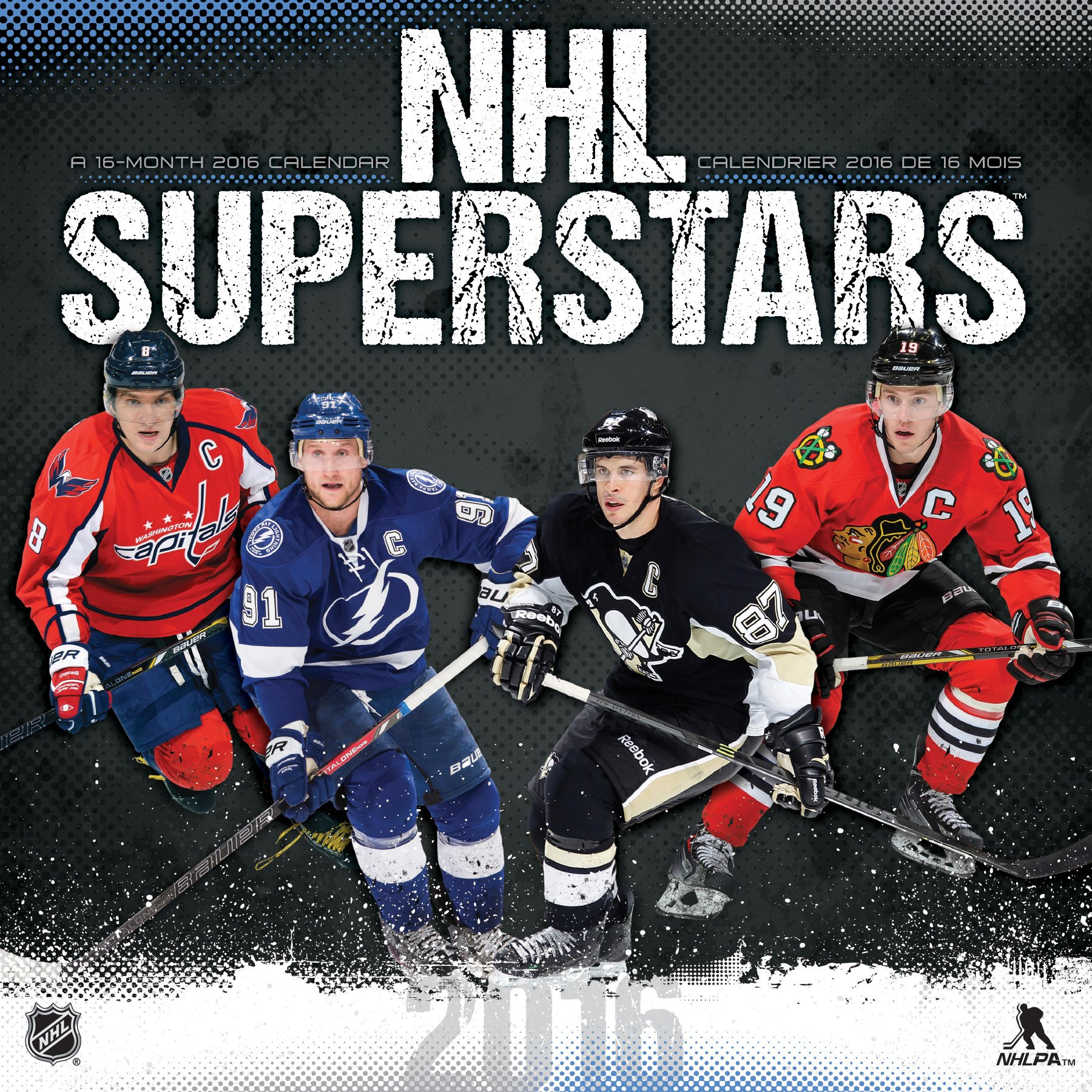 Nhl Superstars 2016 Wall Calendar English And French Edition