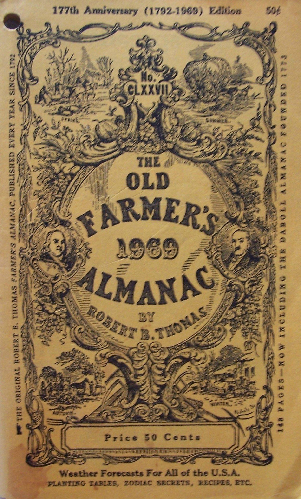 The Old Farmer\'s [ 1969 ] Almanac by Robert B. Thomas (No. CLXXVII ...