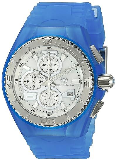 TechnoMarine TM-115262 - Reloj de Pulsera Mujer, Silicona, Color Azul: Amazon.es: Relojes