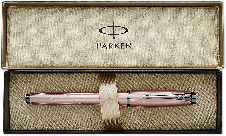 Parker Vector Stainless Steel Fountain Pen Med Pt New In Box