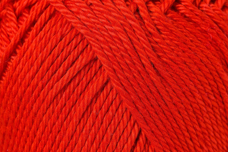 Schachenmayr Ovillo hilo de algodón para punto y ganchillo Catania 9801210, rojo brillante, 11,5 x 5,2 x 6 cm: Amazon.es: Hogar