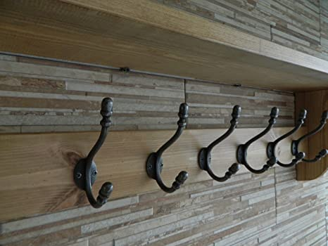 Perchero de madera con gancho estilo antiguo y estante ...
