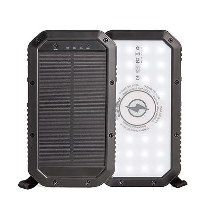 Amazon.com: Banco de energía solar, cargador solar portátil ...