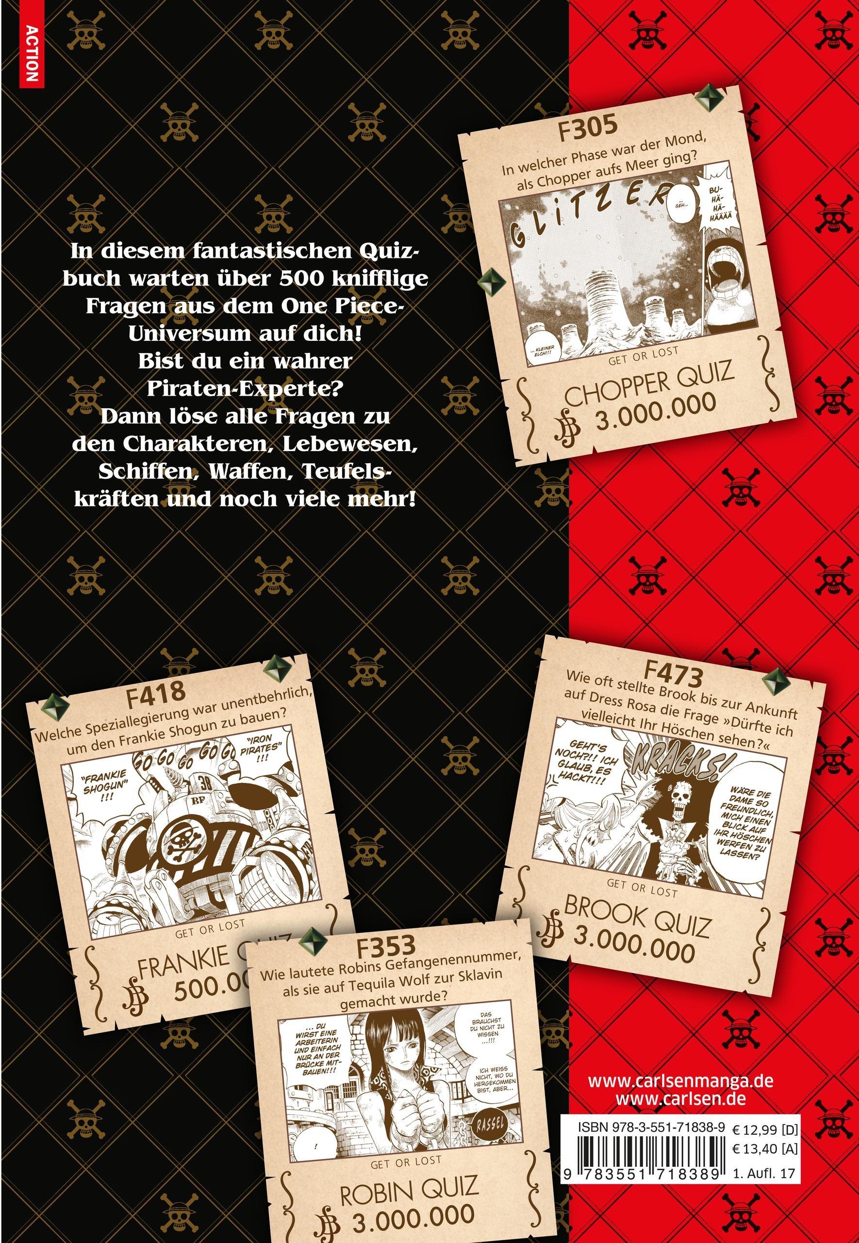 One Piece Quiz Book 1: Eiichiro Oda: 9783551718389: Amazon.com: Books