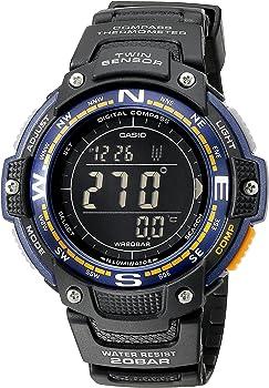 Casio Men's Twin Sensor Digital Display Quartz Black Watch