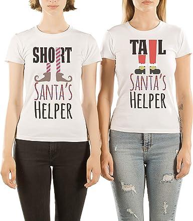 VivaMake® Pack 2 Camisetas de Navidad para Mujer Originales para ...