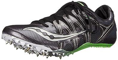 Saucony Men's Showdown Track Spike Racing Shoe, Gray/Black/Slime, ...