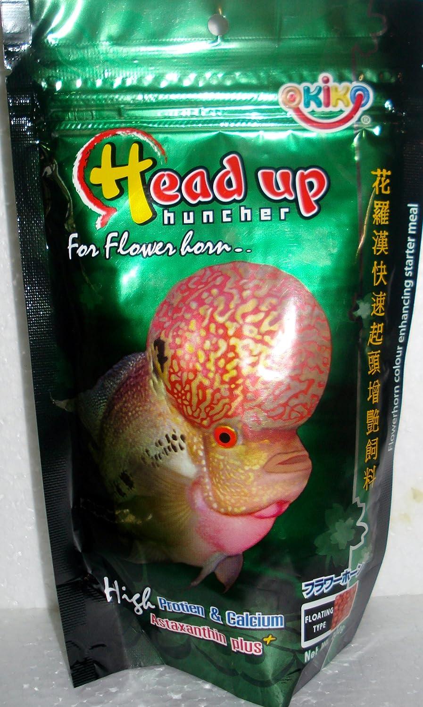 Okiko Head Up- Big Head KOK Faster Flowerhorn 500G (Large pellets) by HeadUp