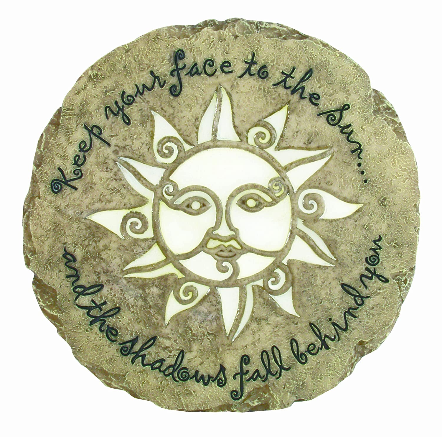 Spoontiques Sun Face Glow Stepping Stone