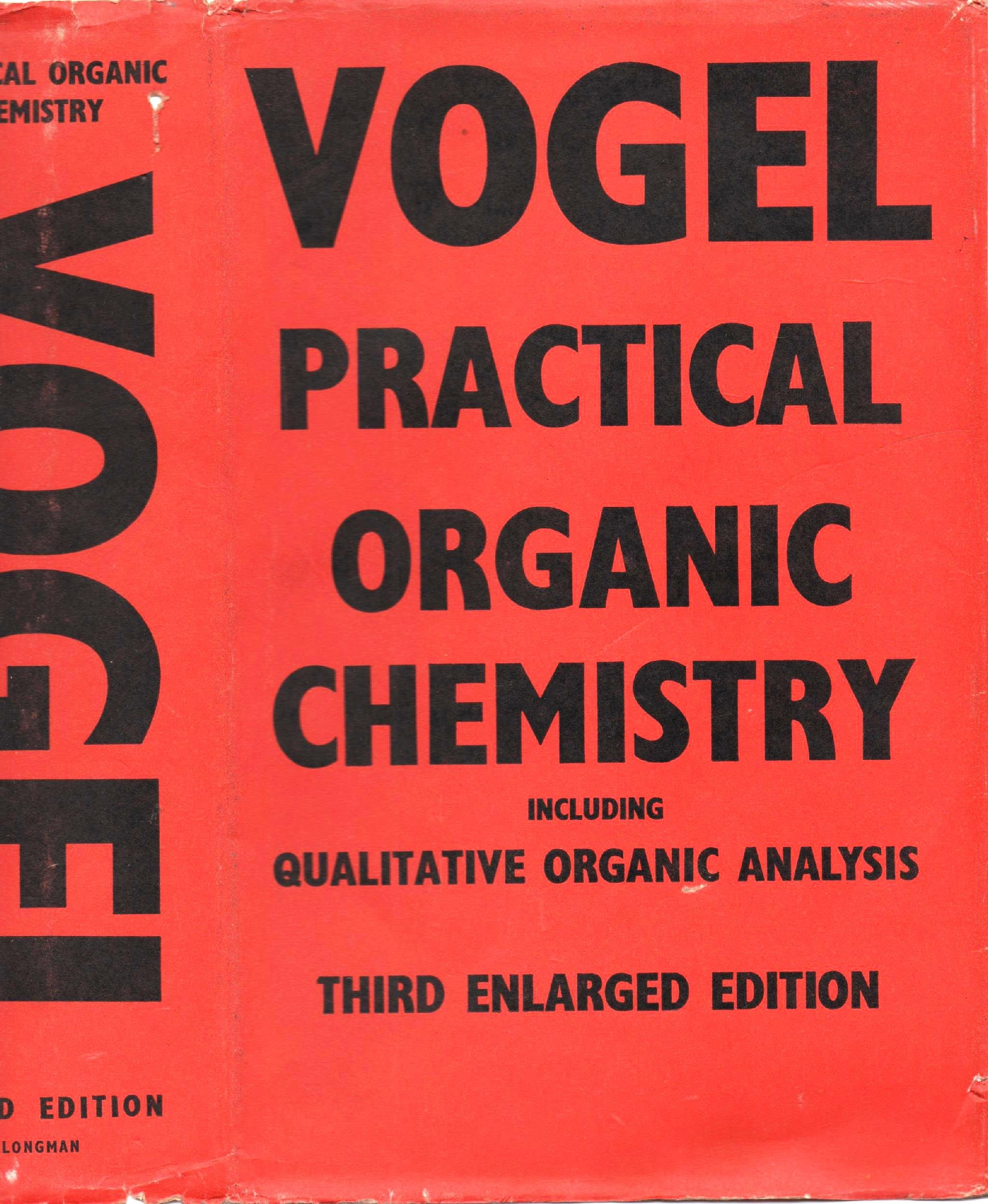 A Text Book Of Practical Organic Chemistry Including Qualitative Analysis Third Edition Arthur Israel Vogel 9780582442450 Amazon Books