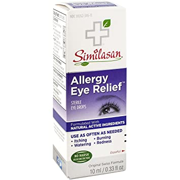 Allergy Eye Drops >> Similasan Allergy Eye Relief Eye Drops 0 33 Ounce Bottle For Temporary Relief From Red Eyes Itchy Eyes Burning Eyes And Watery Eyes