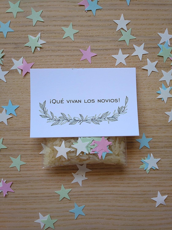 Bolsas de arroz y confeti modelo stars para boda (Pack de 20 ...