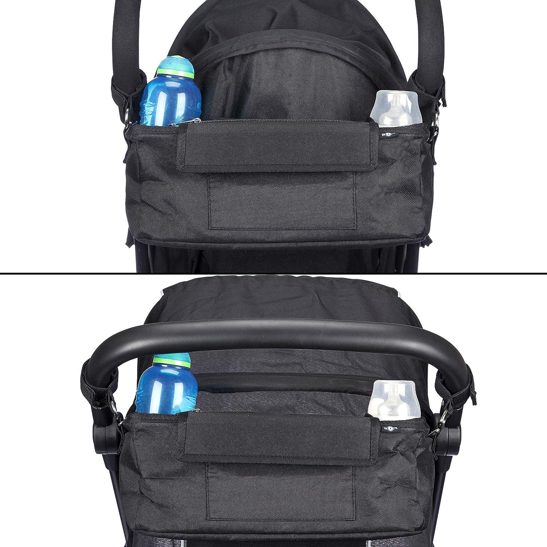 Buggy Organiser Bag with Pram Hooks Waterproof Cover /& High Vis Stickers BTR