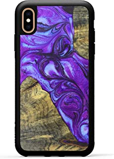 product image for Carved - Wood+Resin Case for iPhone Xs Max - One-of-A-Kind, Protective Traveler Bumper Cover (ID: 337521, Purple)