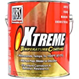 KBS Coatings 65502 Jet Black Xtreme Temperature Coating - 1 Gallon