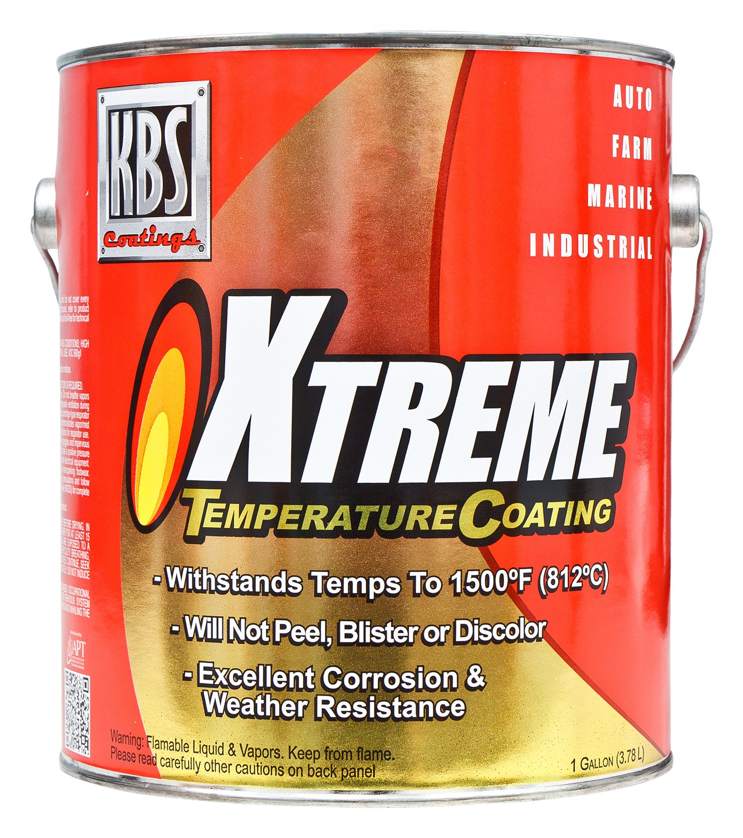 KBS Coatings 65523 Stainless Steel Xtreme Temperature Coating - 1 Gallon
