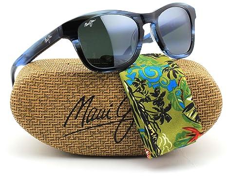 f291ec92af Maui Jim 713-03E KA A POINT Sunglasses Blue Frame   Polarized Neutral Grey