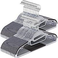 SONGMICS CRP41G-50 Kleerhangers, 50 stuks, kunststof, goed belastbaar, S-vormige opening, antislip, dikte 0,5 cm…