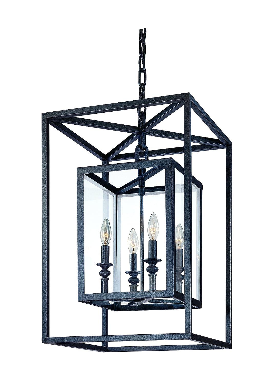 troy lighting morgan 8light pendant deep bronze finish with clear glass ceiling pendant fixtures amazoncom