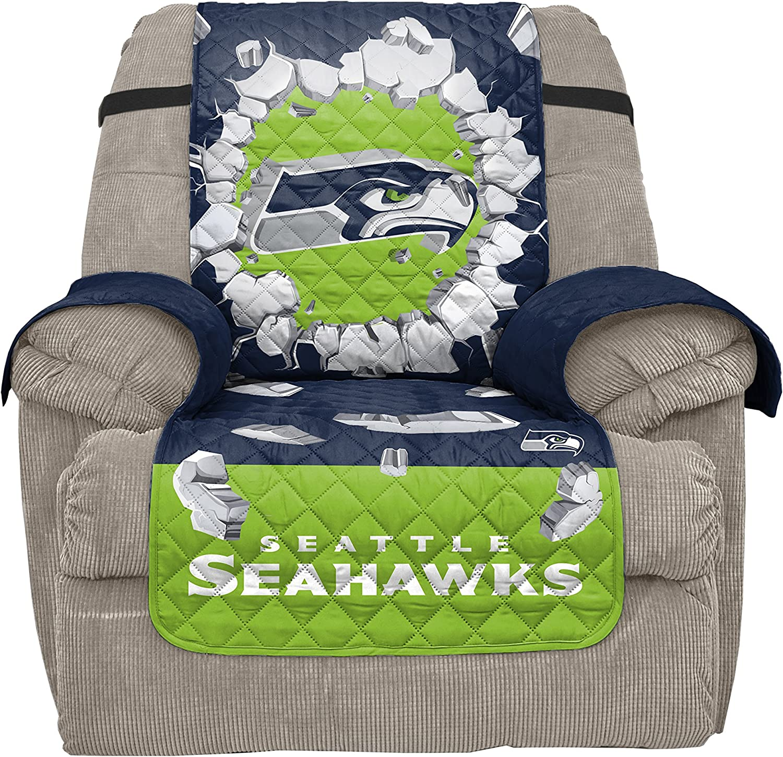 Pegasus Sports NFL Philadelphia Eagles Unisex Nflnfl Furniture Protector, Explosion Design, Midnight Green, Recliner