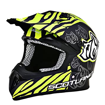 Scotland – Casco moto cross, negro mate, ...