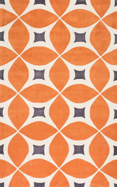 Amazon.com: nuLOOM 100-Percent Polyester Hand Tufted Gabriela Area ... - Amazon.com: nuLOOM 100-Percent Polyester Hand Tufted Gabriela Area Area Rug,  4-Feet by 6-Feet, Deep Orange: Kitchen & Dining