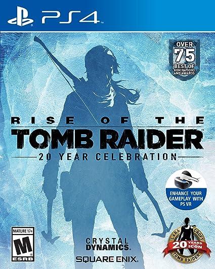 Amazon Com Rise Of The Tomb Raider 20 Year Celebration Playstation 4 Square Enix Llc Video Games