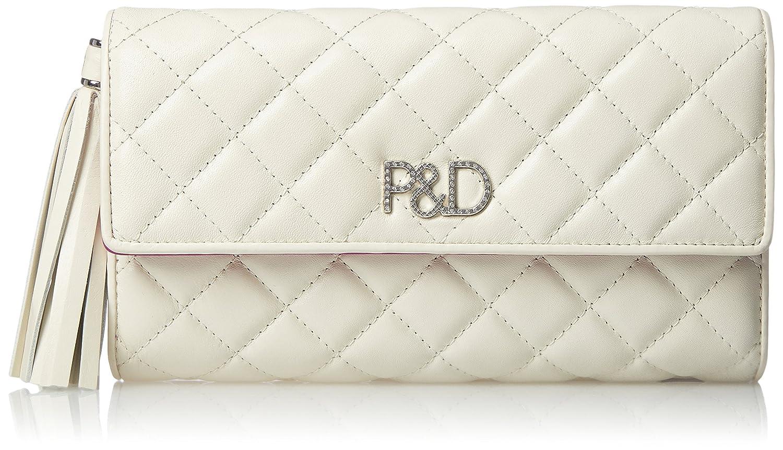 [ピンキーアンドダイアン] 長財布 【ドンナ】キルティング P&Dロゴ金具 タッセル飾り付 大容量 PDLW7LT1 B077SDPQ6L ホワイト ホワイト