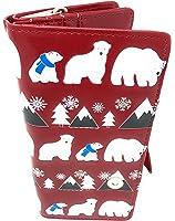 Shagwear Polar Bear Pattern Wallet Red