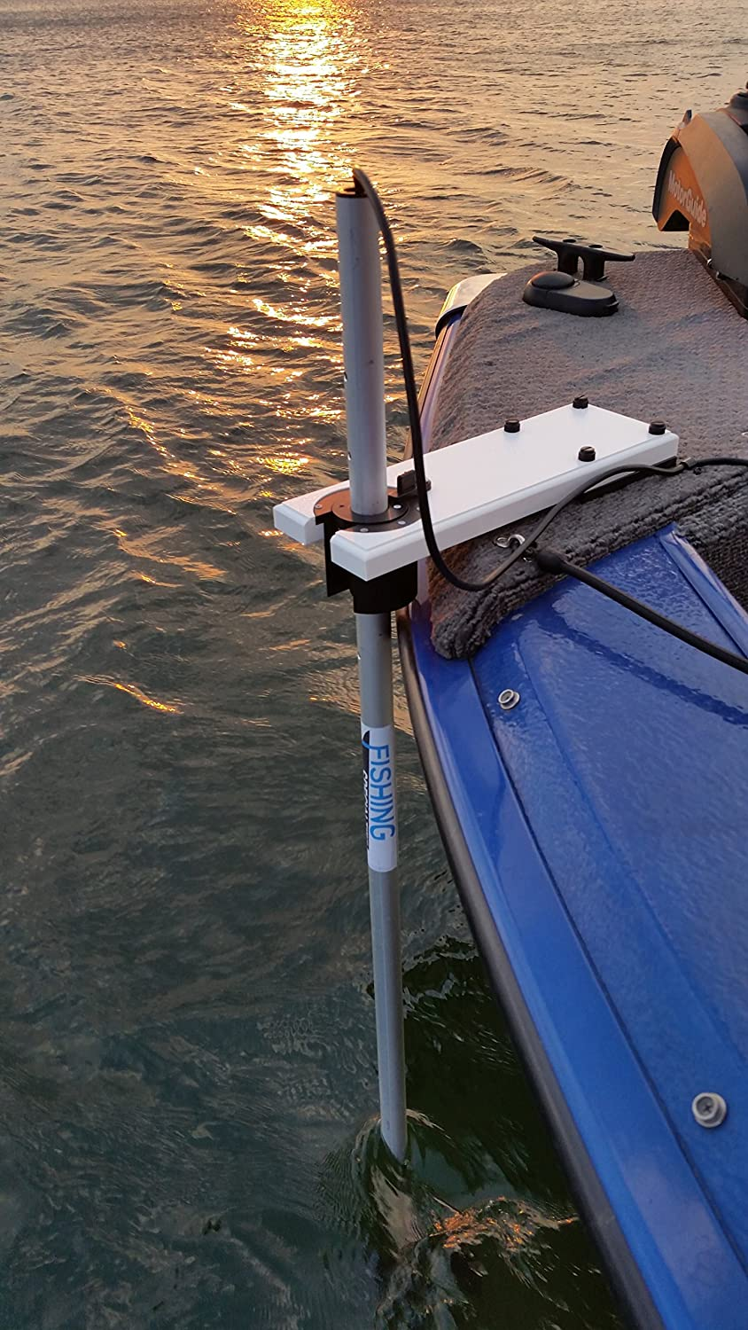 Amazon com: Transducer Mount Assembly for Bow of Boats and
