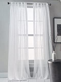 dkny pair of window pinch pleat panels curtains drapery set of 2 solid white