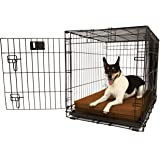 """Orthopedic 4"""" Dog Crate Pad by Big Barker. Waterproof & Tear Resistant. Thick, Heavy Duty, Tough, Washable Cover. Luxury Orthopedic Support Foam inside. Sized to perfectly fit inside standard crate sizes. Made in USA."""