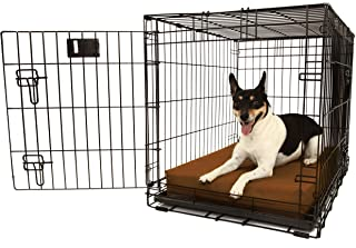 """product image for Orthopedic 4"""" Dog Crate Pad by Big Barker. Waterproof & Tear Resistant. Thick, Heavy Duty, Tough, Washable Cover. Luxury Orthopedic Support Foam inside. Sized to perfectly fit inside standard crate sizes. Made in USA."""