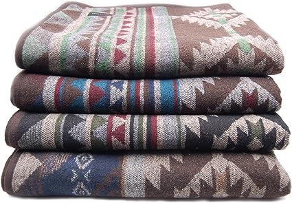 M (Grey,X-Large Ruth/&Boaz Outdoor Wool Blend Blanket Ethnic Inka Pattern