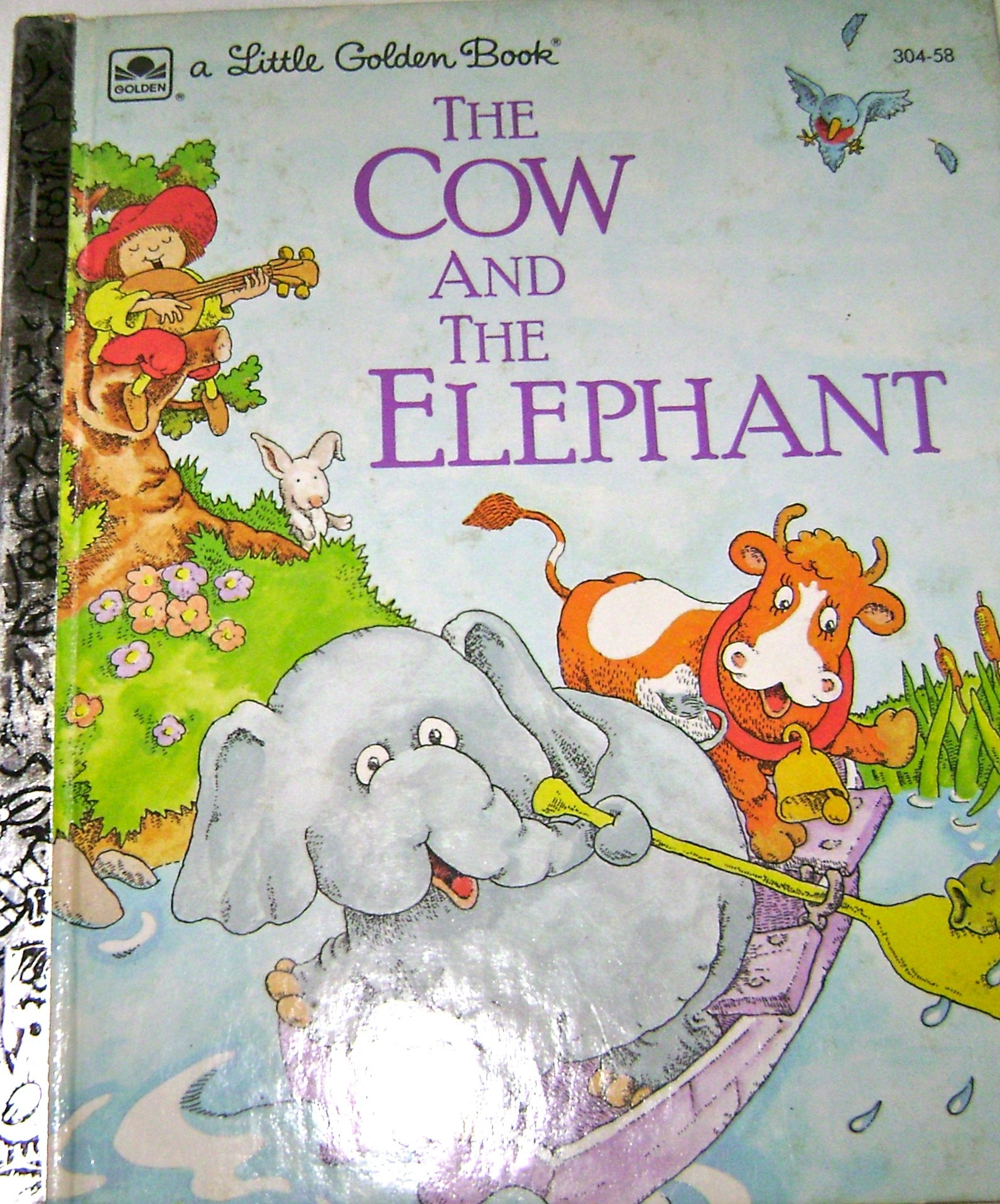 The cow and the elephant (A Little Golden Book): Claude Clayton ...