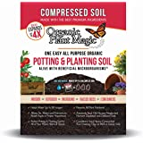 Compressed Organic Potting-Soil for Garden & Plants - Expands up to 4 Times When Mixed with Water - Nutrient Rich Plant Food