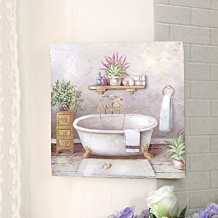 CdCasa Bild Gemälde Leinwand Quadratisch für Badezimmer ...