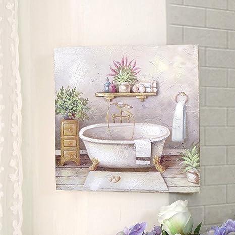 CdCasa Bild Gemälde Leinwand Quadratisch für Badezimmer, Deko Bild ...