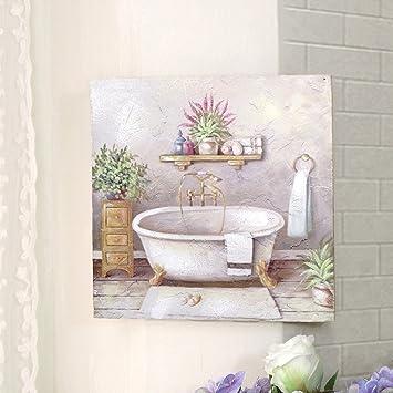 Cdcasa Bild Gemalde Leinwand Quadratisch Fur Badezimmer Deko Bild
