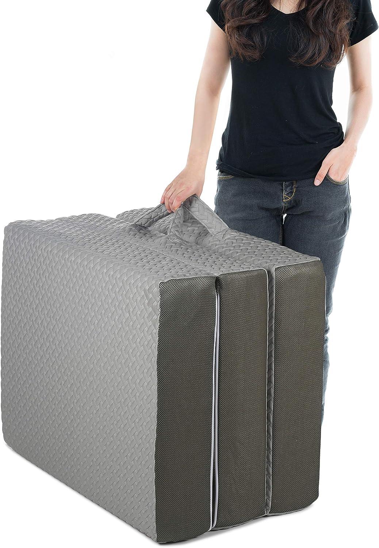 Milliard 6-Inch Memory Foam Tri Folding Portable  Mattress