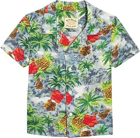 next Niños Camisa Cuello Solapas Estampado Tropical