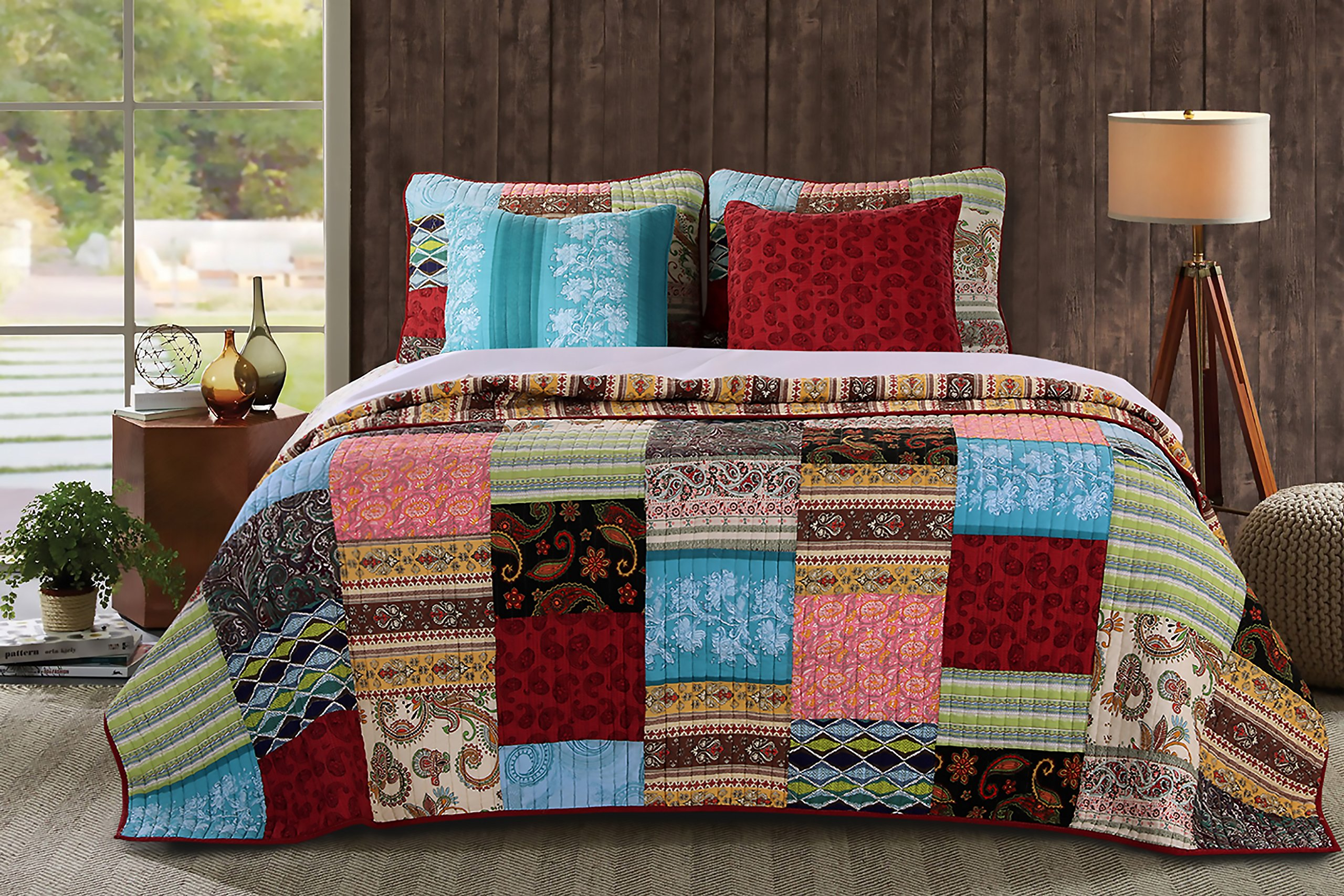 Greenland Home 4 Piece Bohemian Dream Bonus Set, Twin