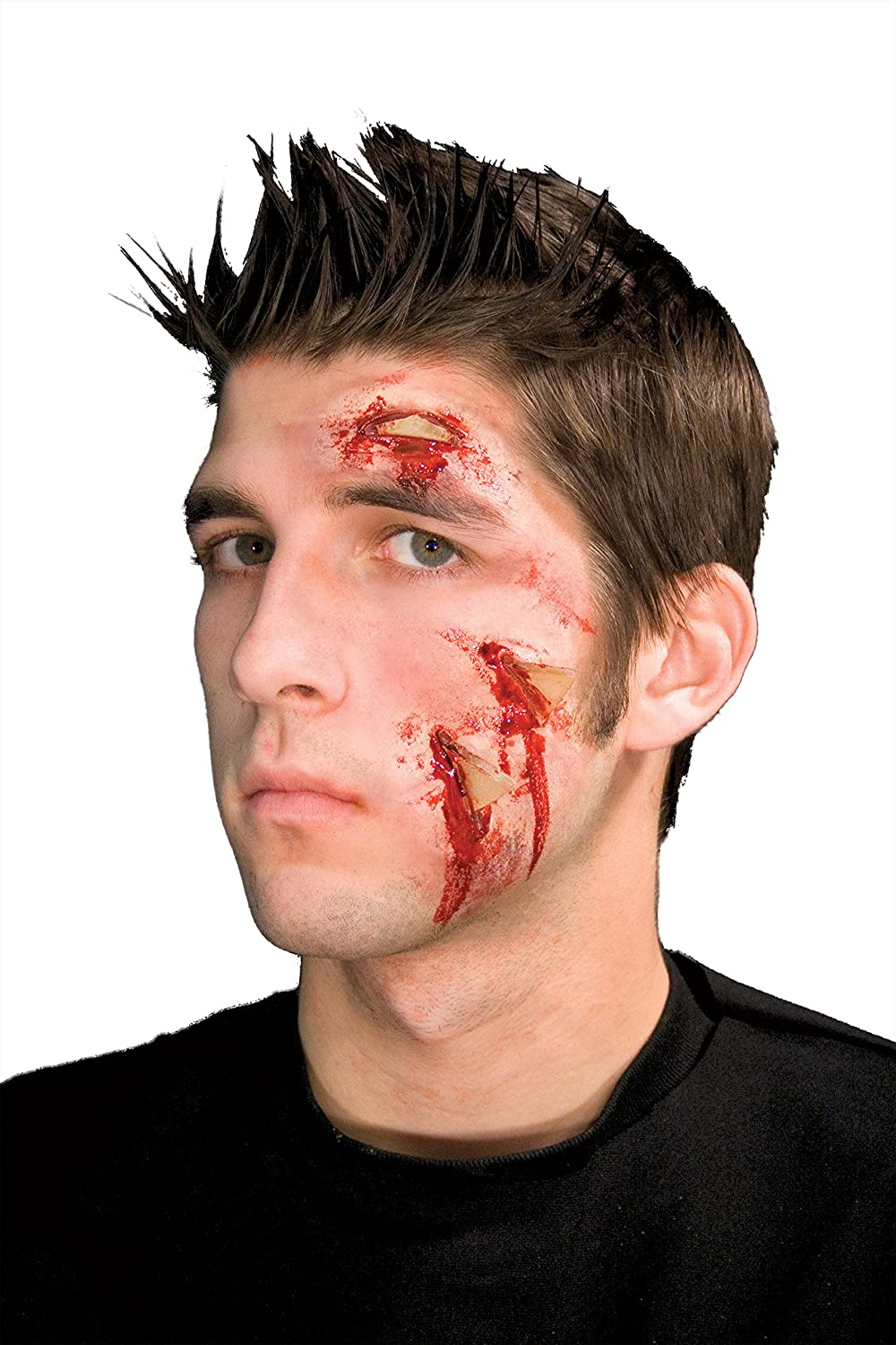 Woochie Classic Latex Appliances - Professional Quality Halloween Costume Makeup - Glass Attack