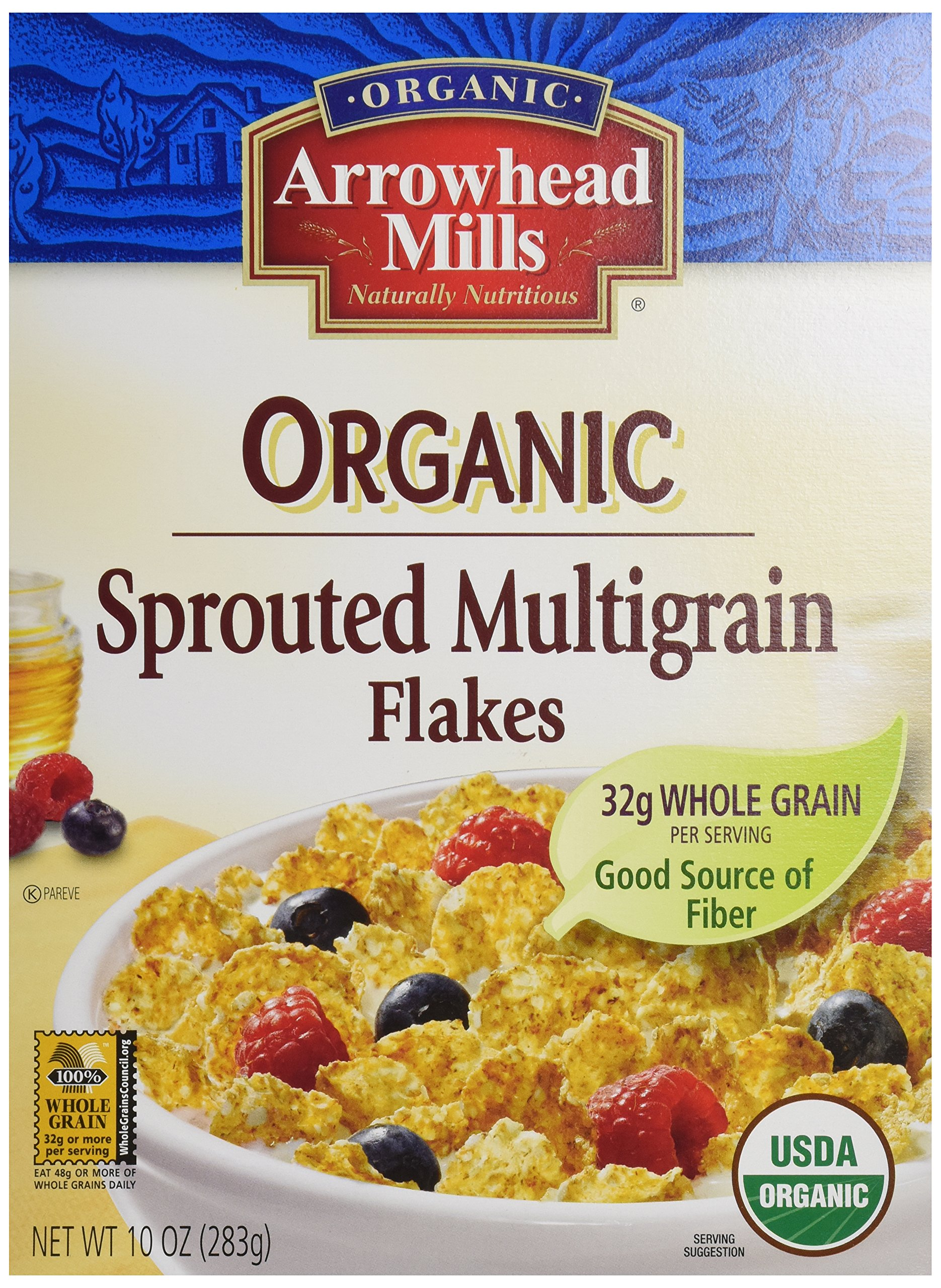 Arrowhead Mills Organic Cereal, Sprouted Multigrain Flakes, 10 oz.
