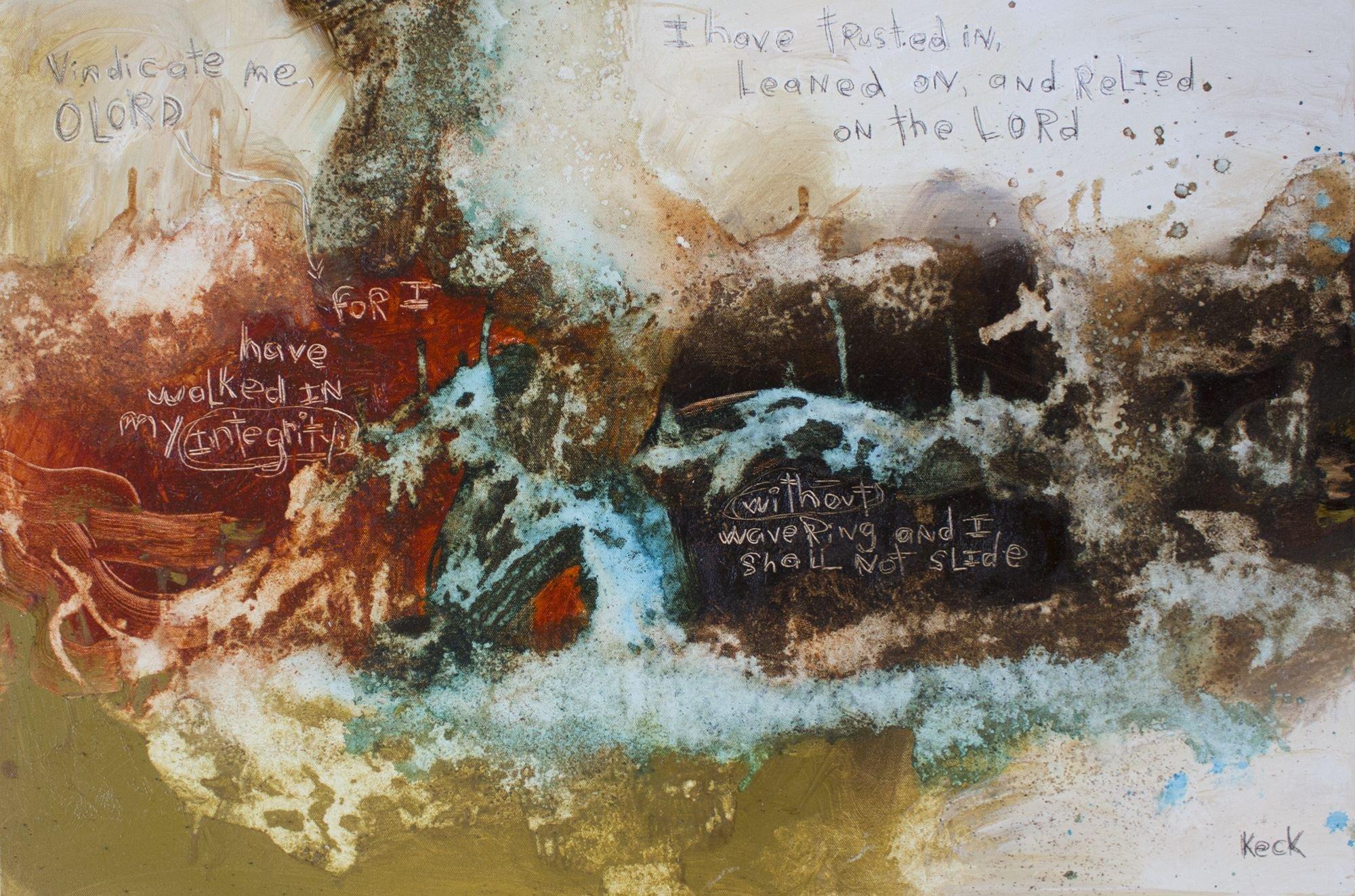 Original Scripture Abstract Art Painting Psalm 26