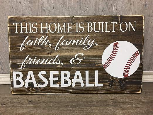 CELYCASY - Cartel de Madera de béisbol con Texto en inglés ...