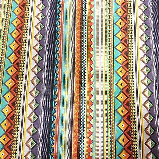 Tela de algodón por metros, diseño de rayas mexicanas, color gris ...