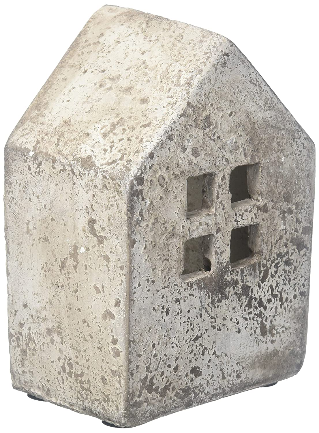 Abbott Collection Home SMALL WIDE HOUSE CANDLE HOLDER-6-Inch Height Chaozhou Ceramics 27-RELIC/7506 SM