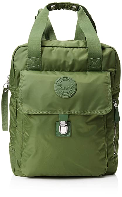 249d91e74d Dr. Martens Unisex-Adult Large Nylon Backpack Backpack Green (Olive Green)